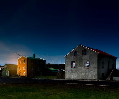 Three Houses - p1693m2294574 by Fran Forman