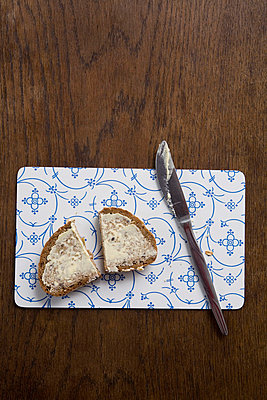 Bread with butter - p4470412 by Anja Lubitz