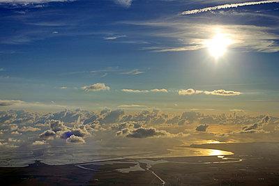 Luftaufnahme Wattenmeer - p1016m924107 von Jochen Knobloch