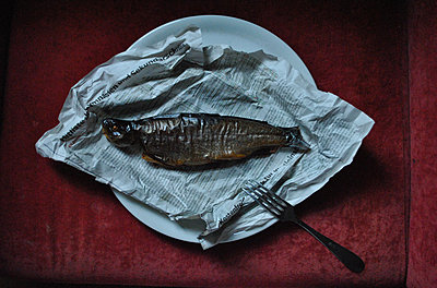 Edible fish on paper - p1648m2228459 by KOLETZKI