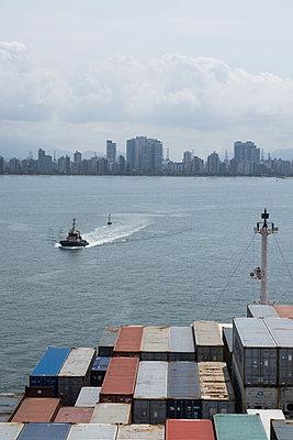 Brazil, Skyline of Santos - p930m2148386 by Ignatio Bravo