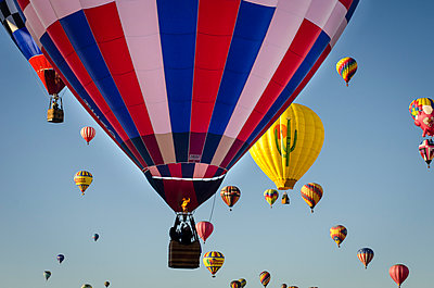 The Albuquerque International Balloon Fiesta draws spectators from around the world.  - p343m958146 by Jeremy Wade Shockley