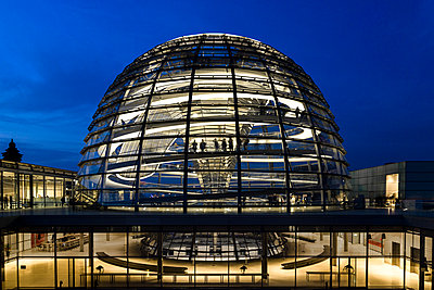 The Dome by Norman Foster, Reichstag Parliament Building, Berlin, Germany - p1062m1172149 by Viviana Falcomer