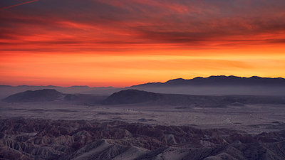 Borrego Badlands at sunset - p1154m1217572 by Tom Hogan