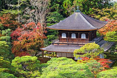 Japan, Kyoto, Ginkakuji Temple - A World Heritage Site - p651m2006237 by Jane Sweeney