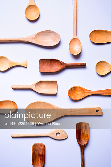 Wooden spoons - p1149m2263669 by Yvonne Röder