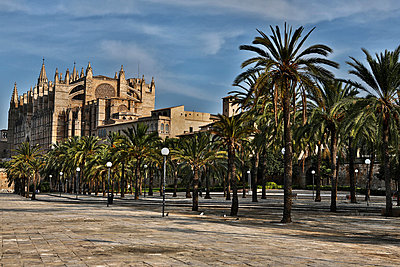 Spain, Palma, Mallorca, View of cathedral Santa Maria - p300m752474f by Roman Märzinger