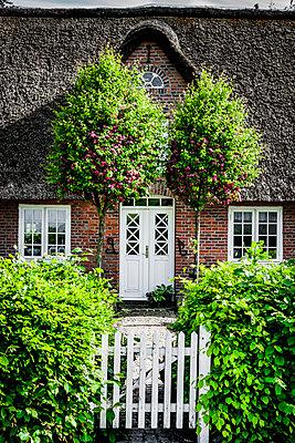 Reetdachhaus mit Gartentür - p248m1462445 von BY