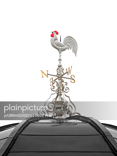 Rooster-shaped weather vane - p1280m2220211 by Dave Wall