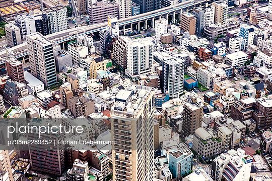 Aereal View of Tokyo - p798m2289452 by Florian Loebermann