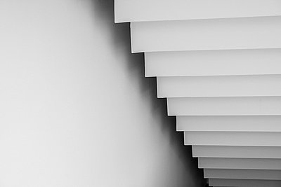 White staircase from below - p301m2016583 by berkpixels