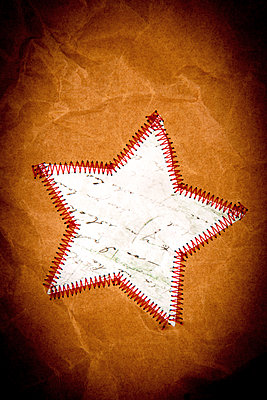 Sewed stars - p451m2272335 by Anja Weber-Decker