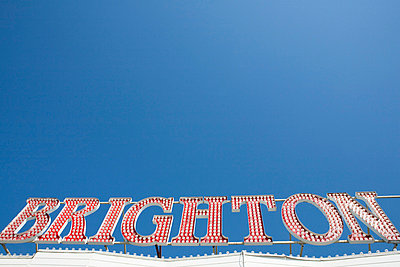 Brighton sign - p9249273f by Image Source