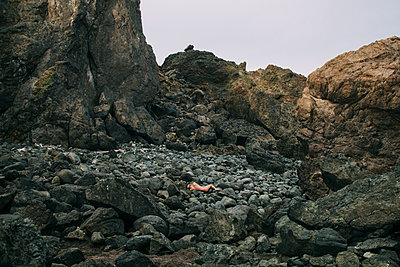 Nude in Rocky Landscape - p1262m1072146 by Maryanne Gobble