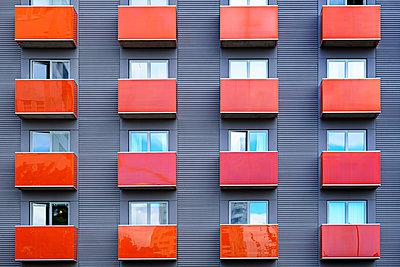 Facade of block of flats - p312m1570411 by Susanne Kronholm