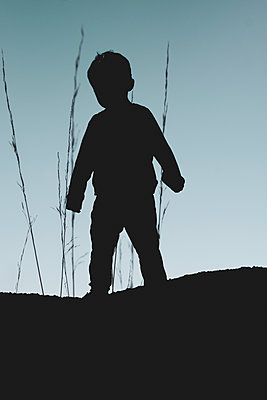 Little boy in silhouette - p1228m2125002 by Benjamin Harte