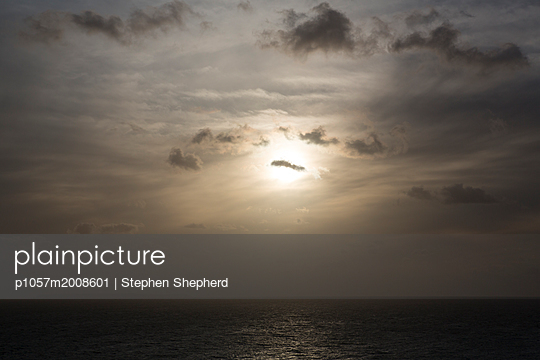 Dramatic sky over the sea  - p1057m2008601 by Stephen Shepherd