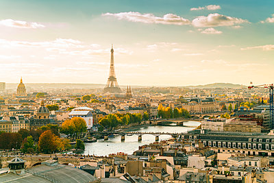 View of Paris with the Eifel tower - p1332m1502783 by Tamboly