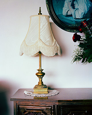 vintage lamp - p1379m1573770 by James Ransom