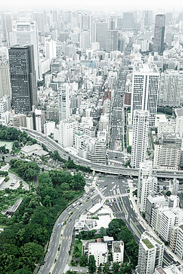 Japan, Tokyo, cityscape with mainroads - p300m2219262 by Florian Löbermann