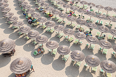 Many parasols on the beach - p1292m2126970 by Niels Schubert