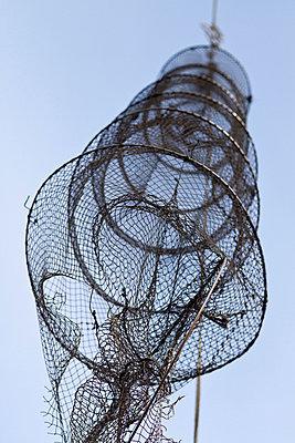 Aufgehängte Fischernetze - p7390142 von Baertels