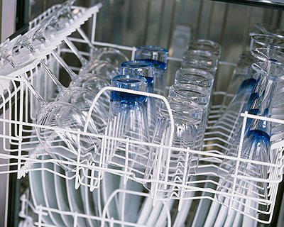 Glasses in a dishwasher - p1183m999337 by Boyd, Andrew