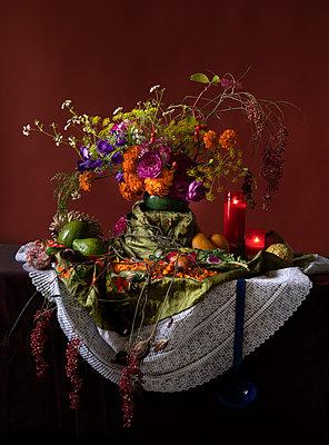 Feast of Corpus Christi, Decorated altar - p1371m2181720 by virginie perocheau