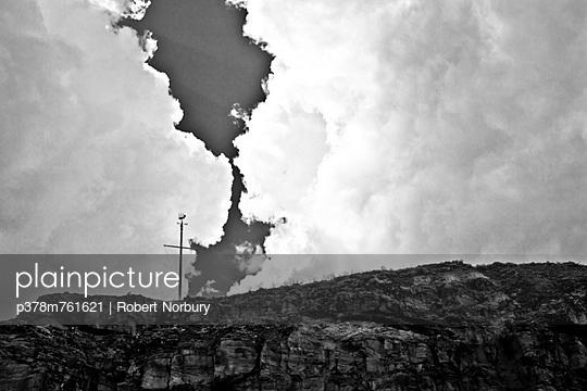 Weather vane and clouds - p378m761621 by Robert Norbury