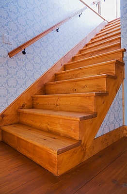 Staircase leading to the basement - p442m767625f by Perry Mastrovito