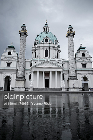 Karlskirche in Wien - p1149m1474983 von Yvonne Röder