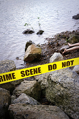 Crime Scene at a River III - p1019m808008 by Stephen Carroll