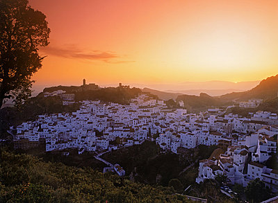 Village of Casares in Malaga Province at sunset in Spain - p34811111 by Chad Ehlers