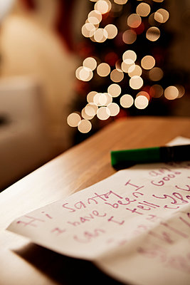 Handwritten letter to santa - p924m1187582 by REB Images