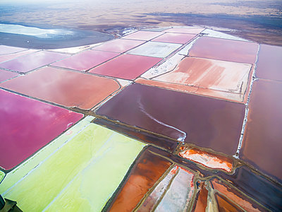 Namibia, Meersig, aerial view of salt mines - p300m1101350f by Martin Moxter