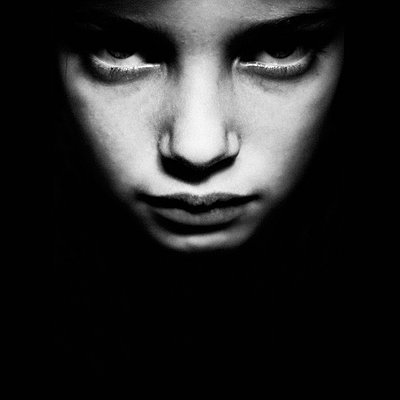 Portrait of girl's face - p896m835665 by Richard Brocken