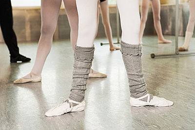 Legs of ballerinas - p9245532f by Image Source