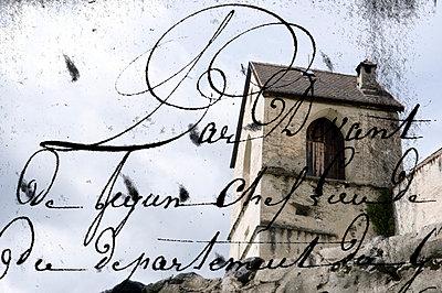Burgruine mit Handschrift - p9790389 von Weber-Decker
