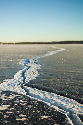 A crack in ice, Sweden. - p5755734 by Hans Berggren