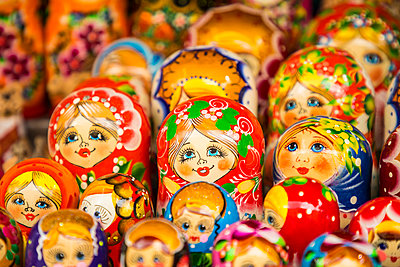 Matryoshka dolls, Minsk, Belarus - p651m2032936 by Jon Arnold