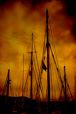 Masts, Normandy, France - p1028m2289445 by Jean Marmeisse