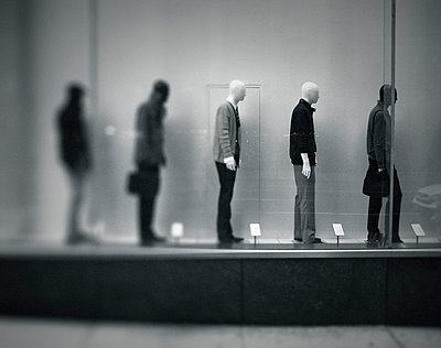 Mannequins in showroom - p3950189 by John Weber