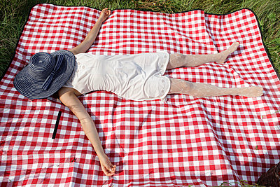 Picnic blanket - p502m816284 by Tomas Adel