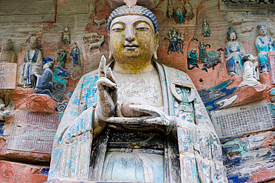 Dazu rock carvings Budhha - p871m873370 by Tim Graham