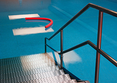 Access to indoor swimming pool with aqua noodle - p300m1115187f by Wolfgang Weinhäupl