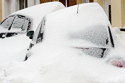 A blizzard hits the town of Brynmawr in Blaenau Gwent, Wales, United Kingdom - p871m2057996 by Graham Lawrence