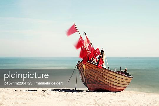 Fischerboot an der Ostsee - p1574m2204729 von manuela deigert