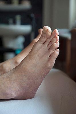 Feet of person - p896m836036 by Sabine Joosten