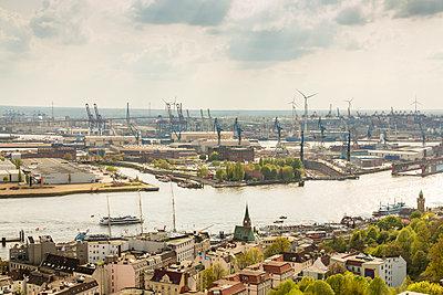 Blick über Hamburg - p1332m1460916 von Tamboly