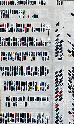 Air photograph of a parking - p3560046 by Stephan Zirwes